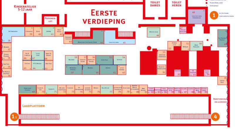 Beursplan De Vitrine - 1ste verdieping